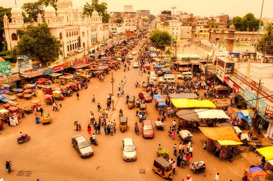 Indische Stadt Hyderabad