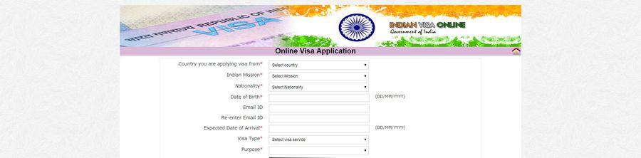 Visum Indien Online Formular Antrag
