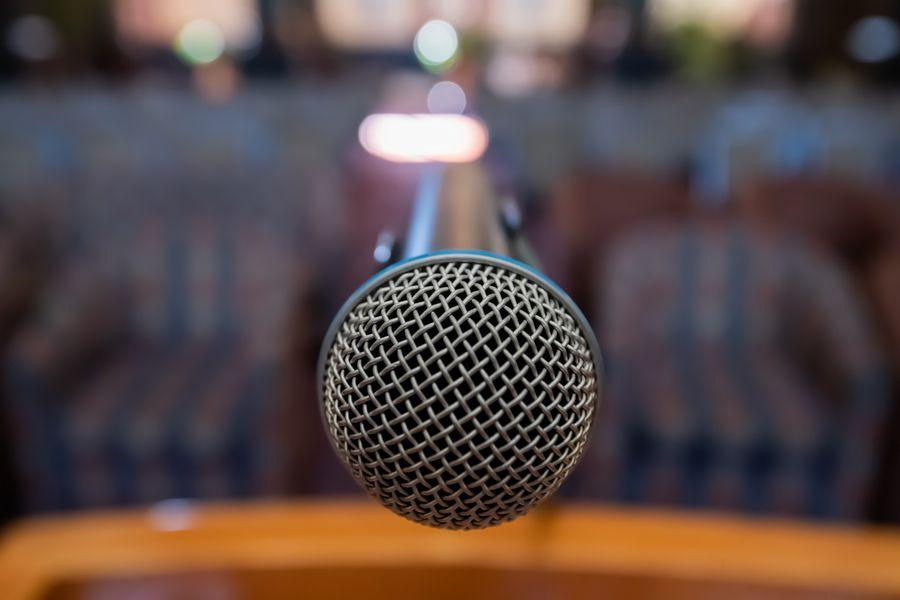 Mikrofon Konferenz Saal